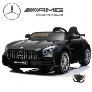 Two Seat Premium 4WD Kids Black 24v Mercedes GT R Ride On Car