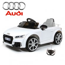 White Twin Motor Audi TT Kids 12v Ride On Car with Remote