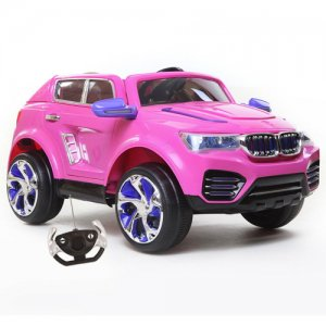 Girls Pink 12v X5 Style Jeep with Opening Doors