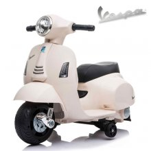 White 6v Ride on Official Little Childrens Vespa Motorbike