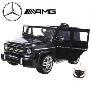Black 12v Official Mercedes G63 Kids Wagon with High Doors
