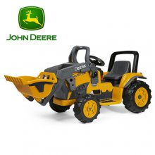 Licensed John Deere Peg Perego Kids 12v Yellow Digger