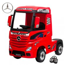 Licensed Red Mercedes 12V Arctic Truck Ride in Lorry