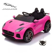 Pink 12v Official Ride On Jaguar F-Type Sit On Battery Car