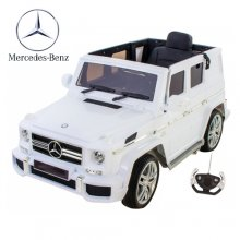 White Licensed Full Door 12v Mercedes G63 Luxury Kids Jeep