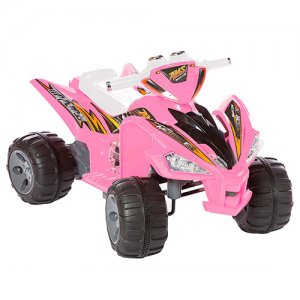 Two Speed Girls 12v Electric Pink Quad Bike