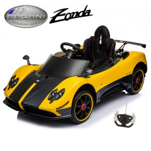 12v Official Yellow Pagani Zonda F Kids Ride On Electric Car