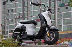 Black Mod Style Retro Premium 24v Electric Scooter