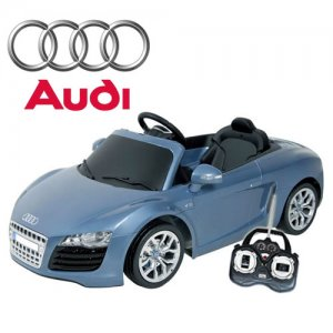 Blue Audi R8 Spyder Luxury 6v Electric Ride-On Car