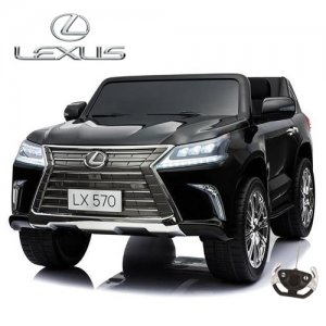 Black 12v Official Lexus 2 Seat Kids Luxury Ride On Jeep