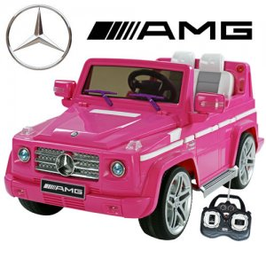 Official 12v Cute Pink AMG Mercedes G55 Electric Jeep