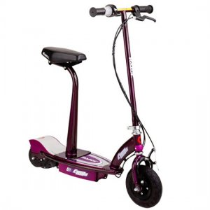 Purple Razor E100s Electric Scooter With Seat