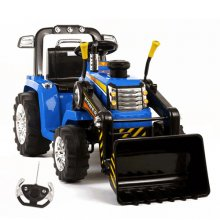 Kids 12v Battery Ride On Tractor With Remote & Loader Bucket