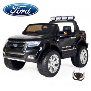 Black 2019 Kids 24v Ford Ranger Official Ride On 4WD Jeep