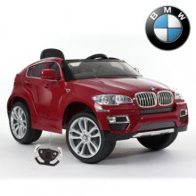Official BMW X6 Kids Crossover 12v Red Ride On Electric Jeep