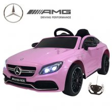 Kids Licensed Pink 12v Mercedes C Class Electric Car