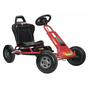 Kids Red Flame Pedal Touring Style Go Kart
