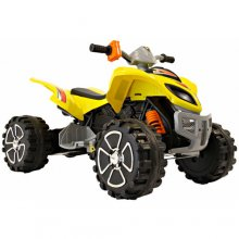 12 Volt Sit-on Yellow Mega Quad Bike