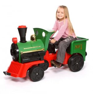 Traditional Pedal Power British Steam Engine Kids Train