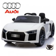 12v White Official Audi R8 Supercar Kids Electric Ride On