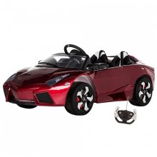 12v Kids Two Seat Red Lambo Style Hypercar with EVA Tyres