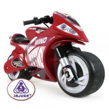 Injusa Kids 6v Red Super Bike Style Ride On Toy