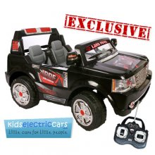 24v Black Large 2-Seat Range Rover Style Ride-on Jeep