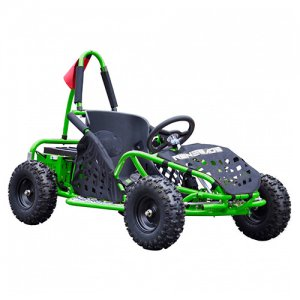 Green 48v Electric Powered Dirt Track 1000W Kids Electric Kart