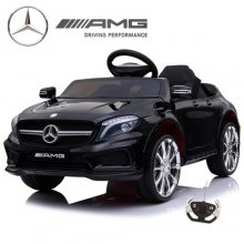 Kids 12v Black Official Mercedes GLA45 Ride On Car with Remote