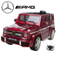 Metallic Red 12v Official Mercedes G63 Kids Electric SUV