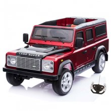 Licensed Metallic Red Kids 12v Land Rover Defender Jeep