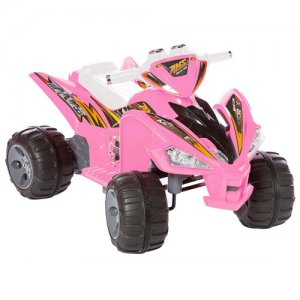 12v Pink Two Speed Ride On Electric Quad Bike