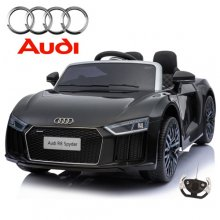Black Official Kids Ride On Audi R8 12v Car with Remote