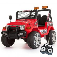 12v Red Two Seater Off Road Kids Electric Jeep