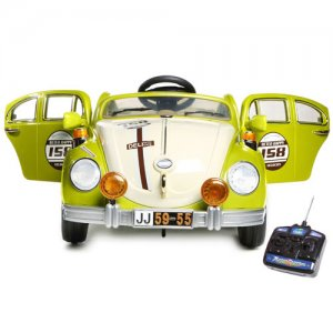 Kids Retro VW Beetle Style 12v Ride On with Doors