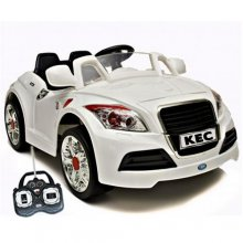 White Audi TT Style 6v Sports Car [Parental Controls]