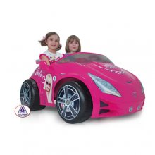Stunning 12v Injusa Pink Barbie 2 Seat Ride-on Jeep