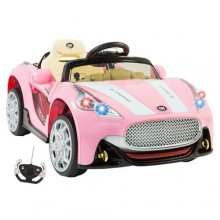 Kids Pink Maserati Style 12v Ride On Electric Super Car