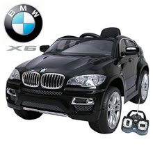 12v Licensed Black BMW X6 Ride-on Twin Motor Jeep