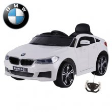 Licensed BMW 6 GT 12v White Kids Ride On Coupe Car
