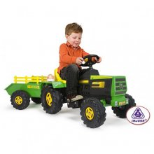 6v Injusa Ride on Tractor with Trailer, Lights and Sounds