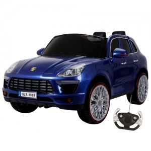 porsche macan style blue electric 12v 4x4 ride on kids electric cars. Black Bedroom Furniture Sets. Home Design Ideas