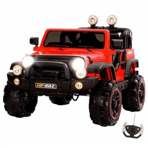 Two Seater Large Red 12v Explorer Kids Jeep