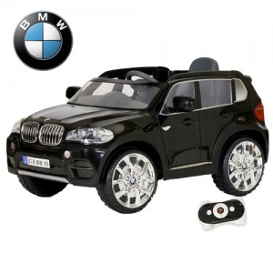 Kids Black Ride On Licensed BMW X5 6v Jeep with Remote