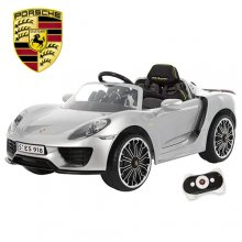 Licensed 12v Silver Porsche 918 Premium Battery Car