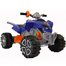 Blue Mega Quad 12v Kids Electric Quad Bike