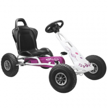 Girls Purple & White Ferbedo Air Runner Pedal Go Kart