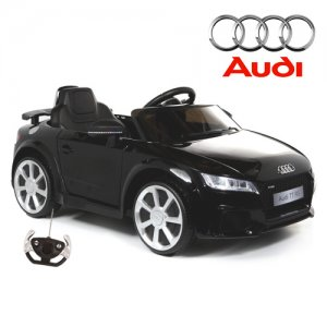 12v Dual Motor Black Official Audi TT RS Kids Ride On Car