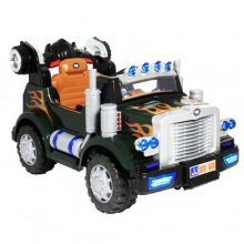 Black Fire Truck Style Kids 12v Ride On