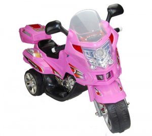 Kids 6v Pink Touring Trike with Storage Box